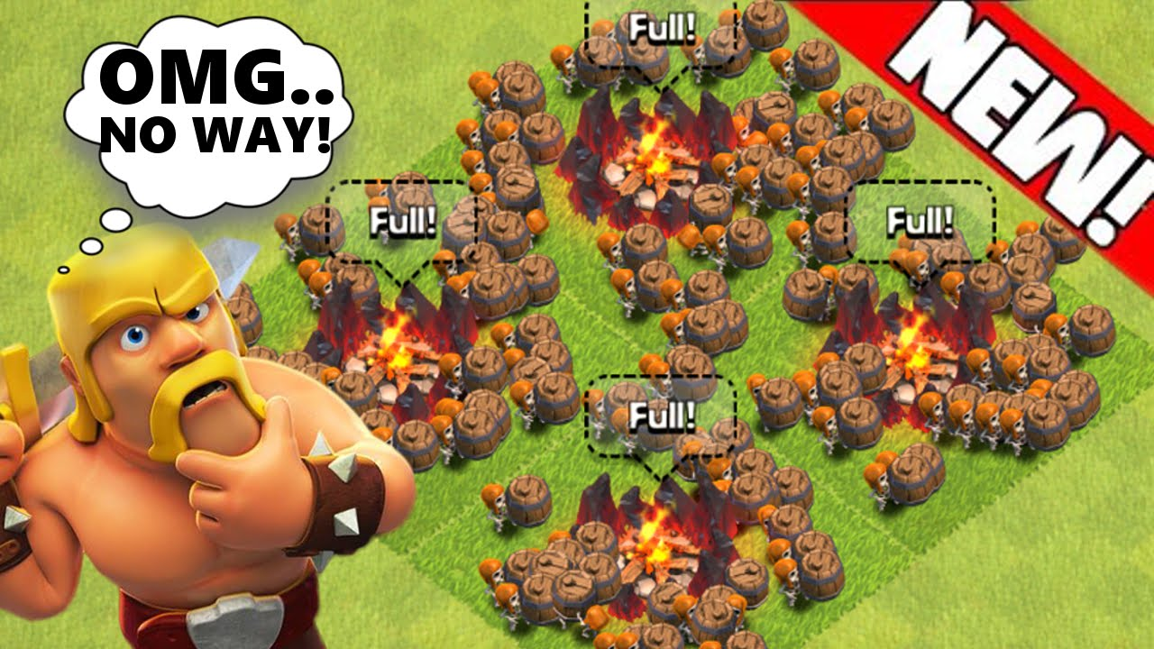 clash of clans quotnewquot max level wall breakers trolling