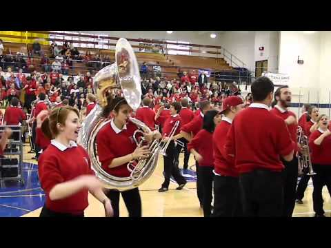 UW Madison Marching Band at Nicolet High School