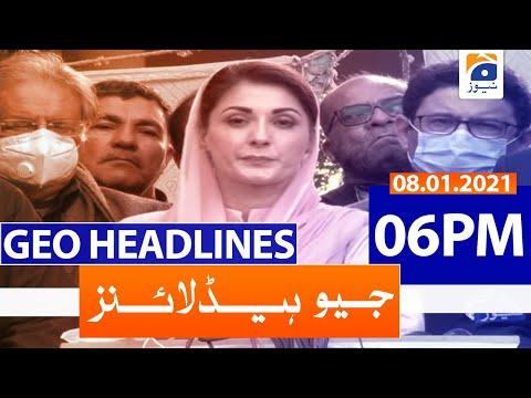 Geo Headlines 06 PM   8th January 2021