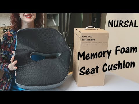 ?MEMORY FOAM SEAT CUSHION ? NURSAL Lower Back,  Sciatica Hemorrhoid Pain Relief Review ?