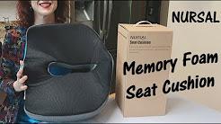 ?MEMORY FOAM SEAT CUSHION ? NURSAL (Lower Back,  Sciatica Hemorrhoid Pain Relief) Review ?