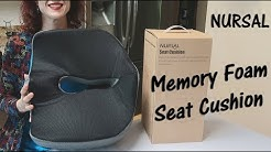 🍀MEMORY FOAM SEAT CUSHION 🍀 NURSAL (Lower Back,  Sciatica Hemorrhoid Pain Relief) Review 👈