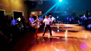 Salsa Dance Performance by Lindsay and Jonathan at DF Dance Studio!