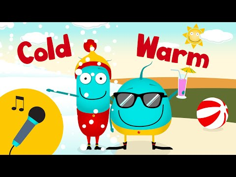 *KARAOKE WARM COLD*   This & That   nursery rhymes songs   learn opposites