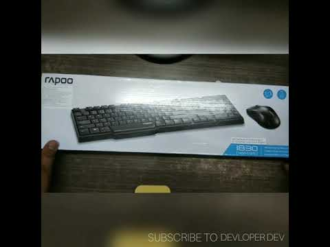 Unboxing Of Rappo 1830[1650+E1070] Gaming Wireless Keyboard And Mouse Combo