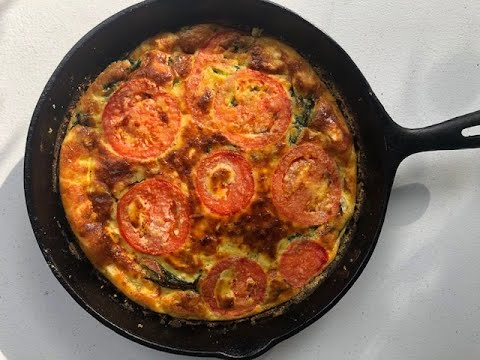 Salmon, Spinach and Goat Cheese Frittata