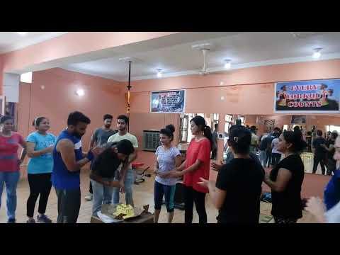 Birthday celebration in gym