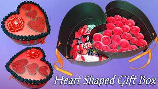 How To Make A Heart Shaped Paper Gift Box | Valentine's day gift ideas | #heartbox | #giftbox
