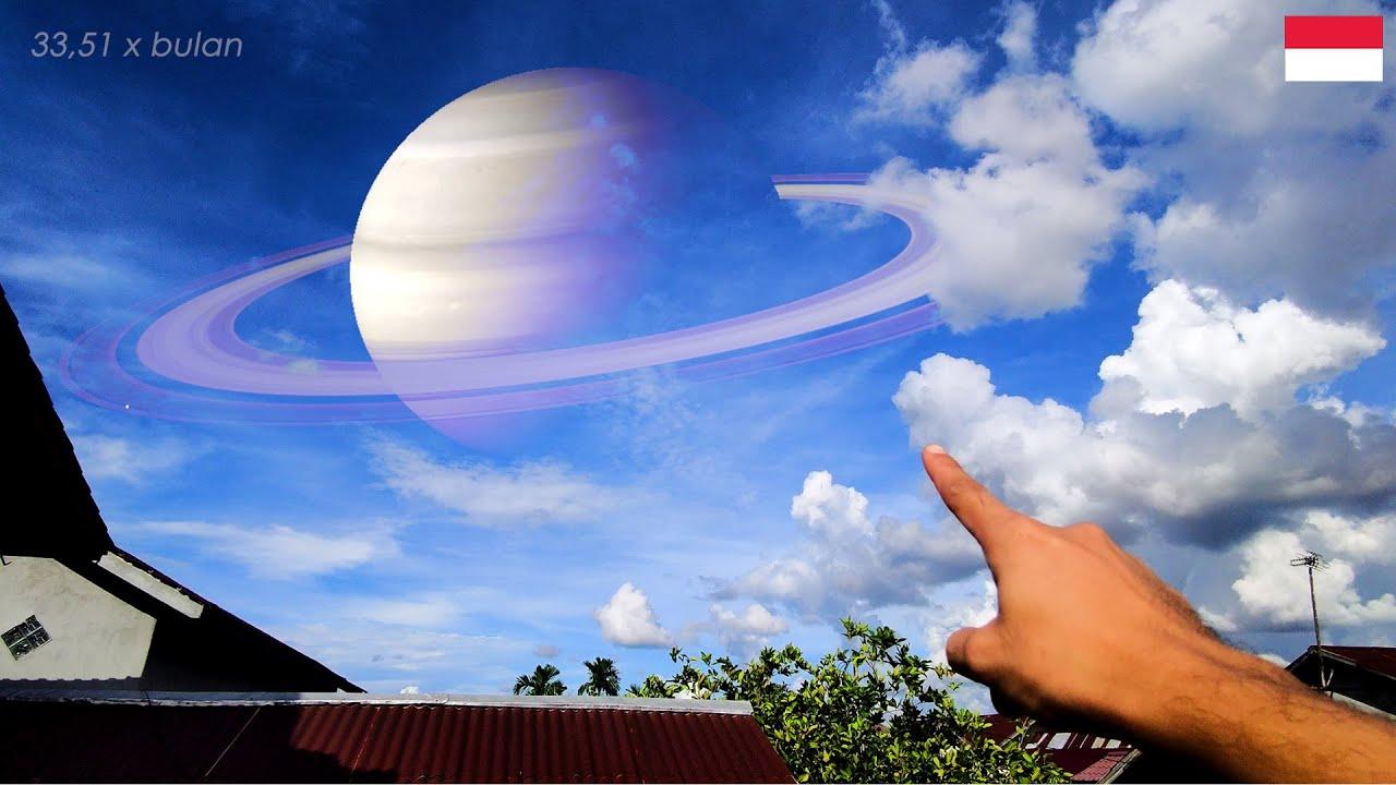 JIKA JARAK PLANET = BULAN KE BUMI (Saturn, Jupiter, Pluto, Mars Distance to Earth)