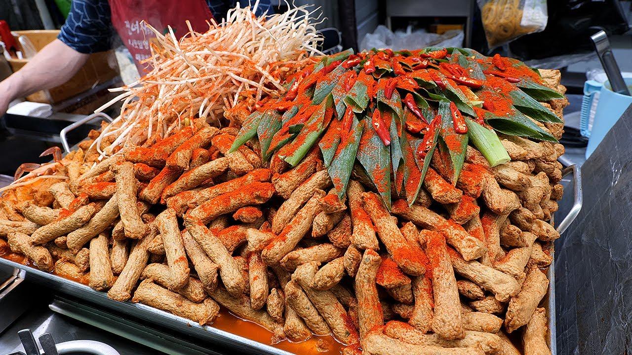 대구에서 유명한 산더미 매운 어묵 / spicy fish cake - umook / korean street food