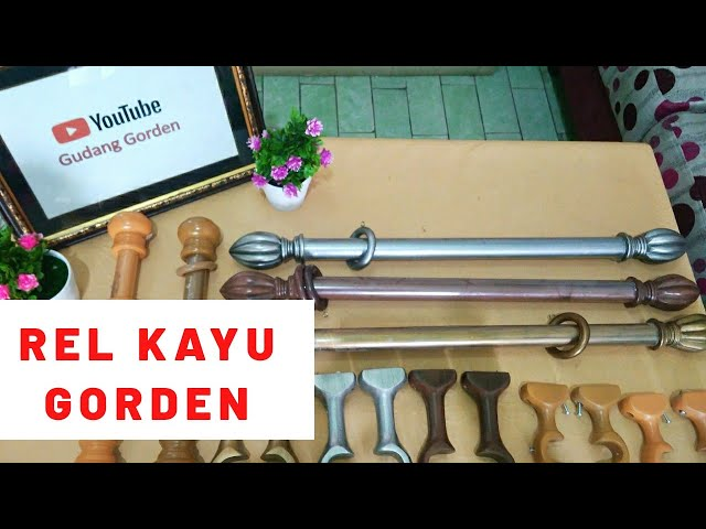 Rel Gorden Kayu | Wooden Curtain Rail 082310989451