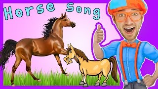 Horses For Kids - Horse Song Nursery Rhymes By Blippi