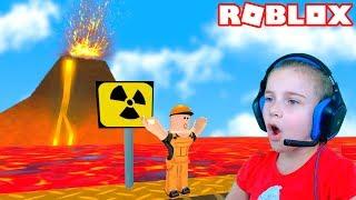 - ПОБЕГ ОТ ВУЛКАНА в Роблокс приключение мульт героя на вулкане Roblox