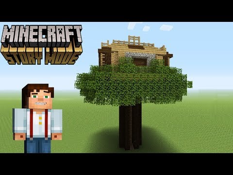 """Minecraft Tutorial: How To Make Jesses TreeHouse From """"Minecraft Story Mode"""""""
