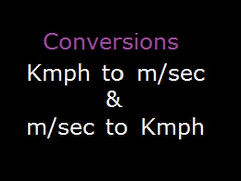 Math problem speed distance conversion of Km/hr to m/s