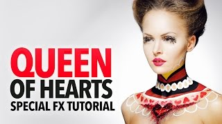 Queen of hearts makeup & hair tutorial