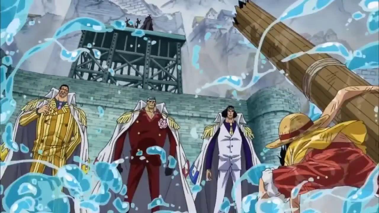 Luffy vs 3 đô đốc
