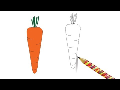 Download How To Draw A Carrot For Kids Vegetable Drawing Easy