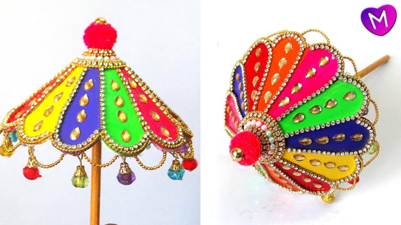 How To Make Ganesh Umbrella Ganesh Umbrella Making Ganesh
