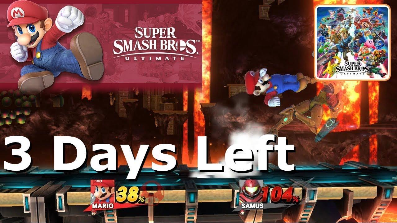 3 Days Until Super Smash Bros Ultimate