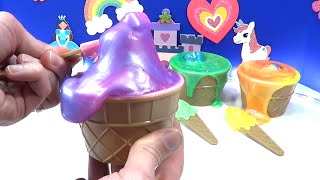 Slime and Ice Cream Cup Surprises!