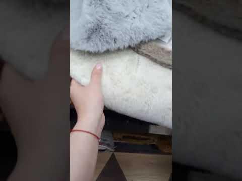 Ковер из искусственного меха, имитация меха кролика или шиншиллы