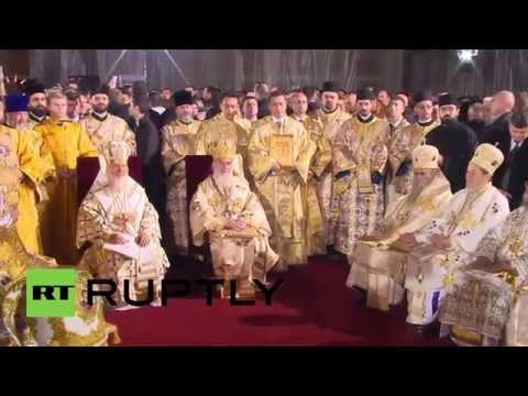 Serbia: Russian Patriarch Kirill performs liturgy with Serbian counterpart