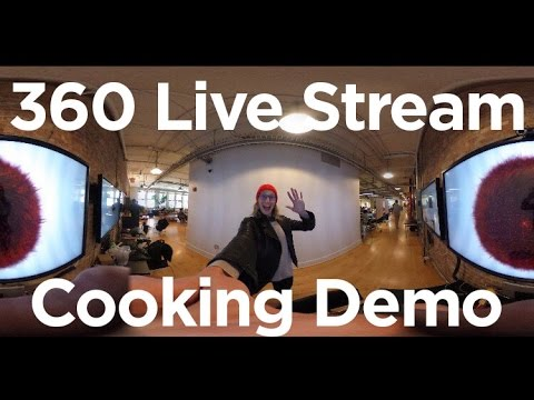 First Ever Live Stream 360 Cooking Demo with QKatie