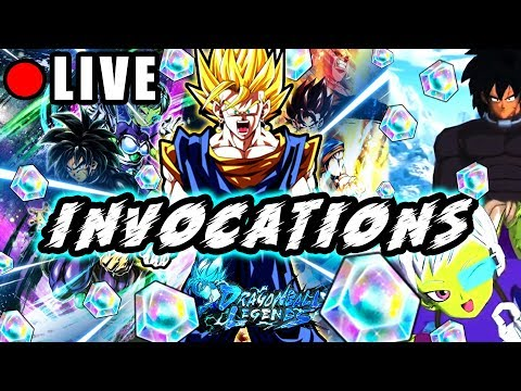 🔴 INVOCATIONS SUPER VEGETTO & BROLY  - DRAGON BALL LEGENDS