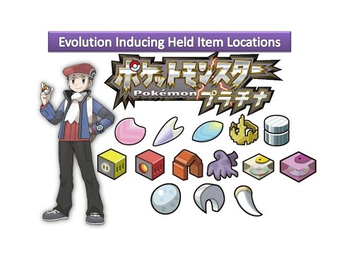 Pokemon Platinum - Evolution Inducing Held Item Locations