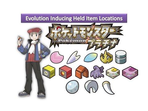Pokemon Platinum - Evolution Inducing Held Item Locations