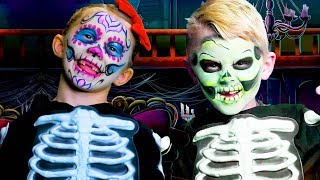 Halloween Face Painting Skeletons | Skeleton Ball Kids Song