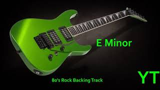 80s Rock Guitar Backing Track E Minor