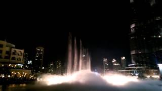 Dubai Mall Fountain - Om Kolthoum - Enta Omri