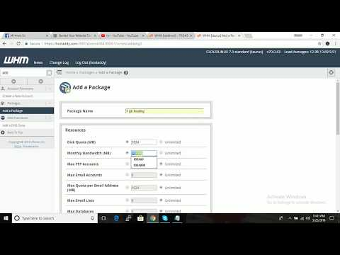 How to Create a Package in WHM Access