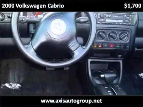 2000 Volkswagen Cabrio Used Cars Jersey City NJ