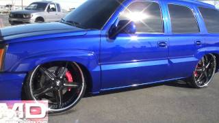 Delicious Candy Blue SMD Escalade Bagged on 26's (Update 6) Blacked Out