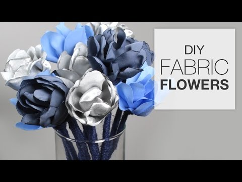 DIY Fabric Flowers (Tutorial)