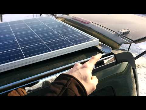 255W solar panel installed on jeep