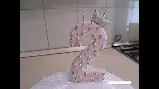 Цифра свеча для торта из мастики !!!