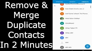 Remove And Merge Duplicate Contacts In 2 Minutes