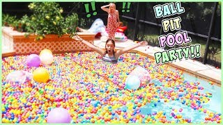 WE TURNED OUR POOL INTO A GIANT BALL PIT (prank on MOM)
