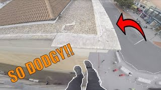 SKETCHY PARKOUR ROOFTOP RUN!