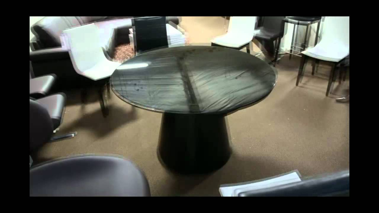 Modern Round Dining Table With Rotating Extensions | (866)397 0933  LAFurnitureStore.com   YouTube