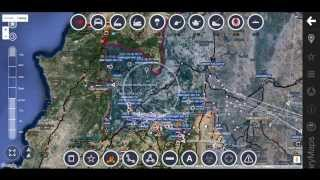 Обзор карты боевых действий в  Сирии за 14. 10. 2015 год