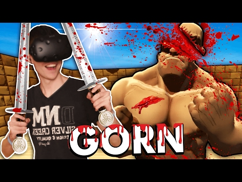 GORE IN VIRTUAL REALITY GLADIATOR ARENA! (GORN VR - HTC Vive Funny Gameplay)