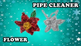 How to make a Poinsettia flower with pipe cleaners- Easy Christmas crafts