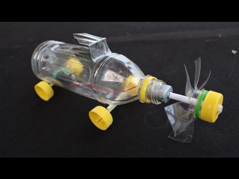 Làm Xe Điện từ vỏ chai nhựa | Xe phản lực