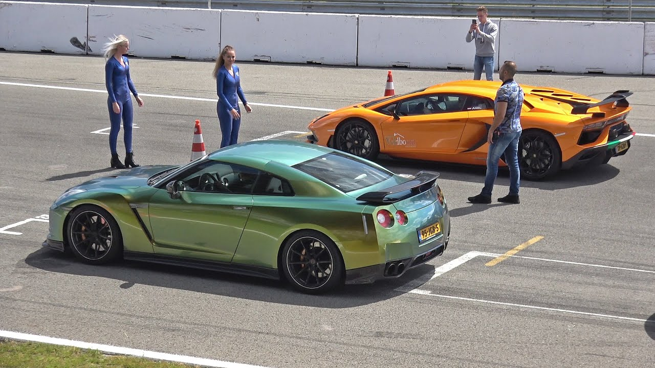 Sport Cars DRAG RACING! Aventador SVJ, Huracan Performante, Nissan GT-R, GT3 4.0, RS6 Avant & More!