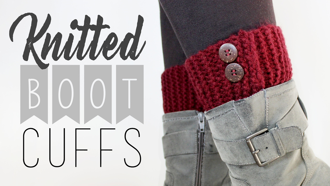 Knitted Boot Cuffs // Knitting for Beginners // Veronica Marie - YouTube